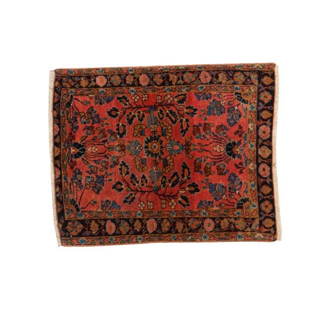 Antique Persian Mohajeran Sarouk Rug Mat - 2' X 3' - Image 1 of 7