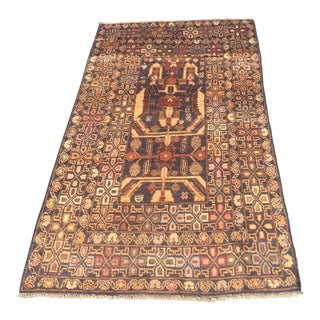 Black Afghan Rizbaft Rug - 3′6″ × 6′6″