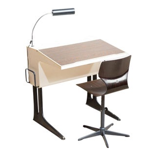 Mid-Century Modern Desk & Chair by Luigi Colani For Sale