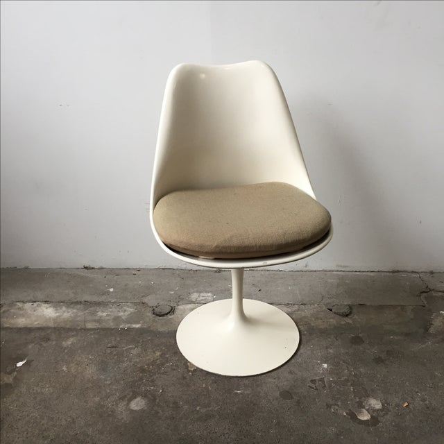 Knoll White Vintage Tulip Swivel Chairs - Set of 4 - Image 9 of 9