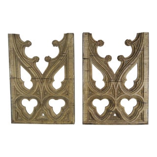 19th C. Italian Gothic Style Architectural Fragments, Pair For Sale