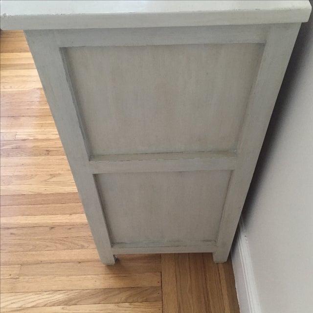 Shabby Chic Light Gray Dresser - Image 3 of 11