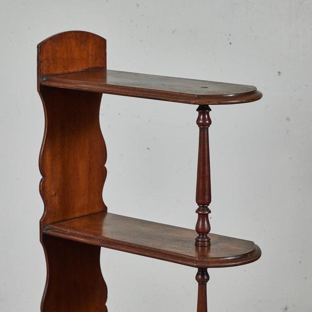 Late 19th Century English Chemist Mahogany Shelf For Sale - Image 4 of 12