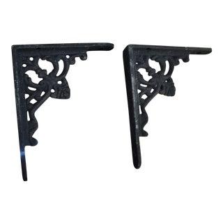 Modern Fleaur De Lis Wall Brackets- A Pair For Sale