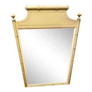 Henry Link Hollywood Regency Faux Bamboo Pagoda Mirror For Sale