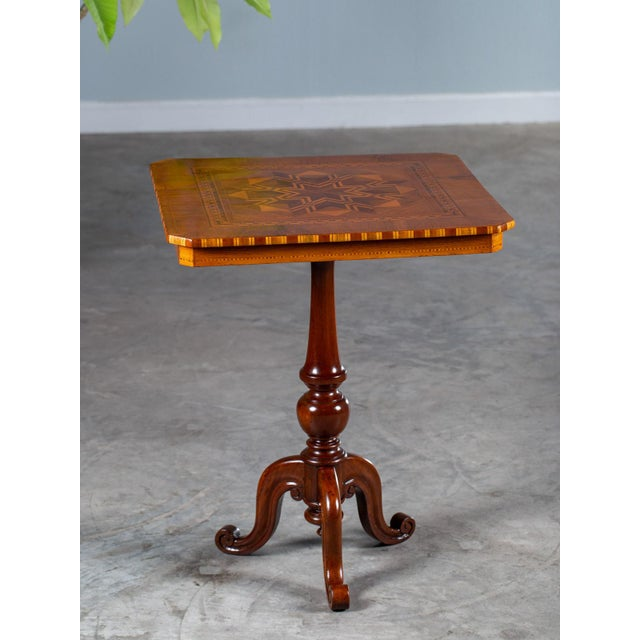 """Antique 1880s Italian """"Sorrento"""" Inlaid Table For Sale - Image 13 of 13"""