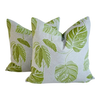 Tropical Linen Pillow Covers - a Pair For Sale
