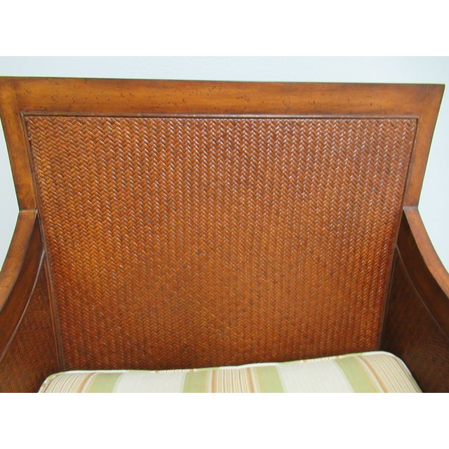 Thomasville Tommy Bahama Style Wicker Lounge Chair For Sale - Image 9 of 13