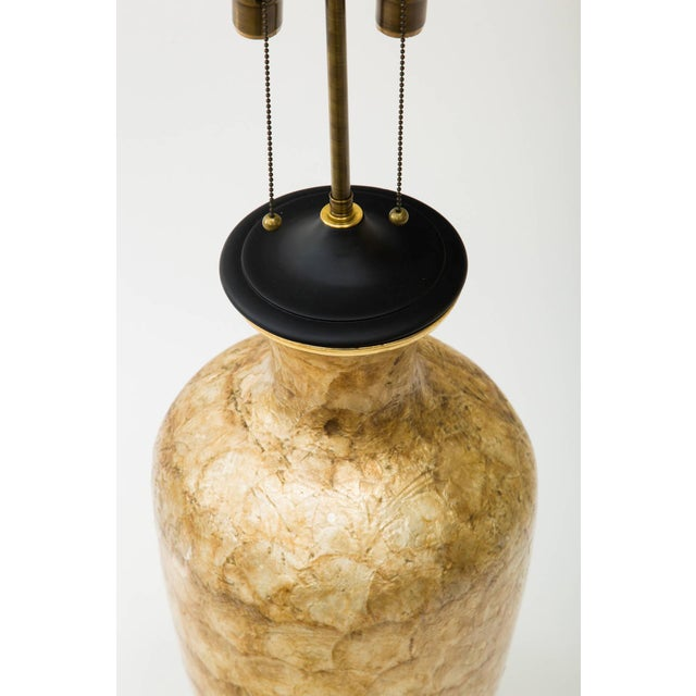 Large Capiz Shell Lamp For Sale In New York - Image 6 of 7