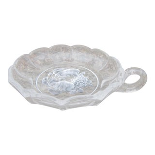 Val St Lambert Brussels Pattern Crystal Flared Fruit Intaglio Serving Bowl For Sale