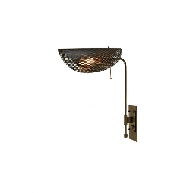 Not Yet Made - Made To Order Tulle Wall Lamp in Bronze and Black Enamel Mesh by Blueprint Lighting, 2019 For Sale - Image 5 of 6