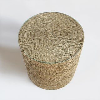 Round Seagrass Rope Side Table Preview