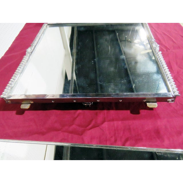 Glass Victorian Style Mirrored Plateau For Sale - Image 7 of 9