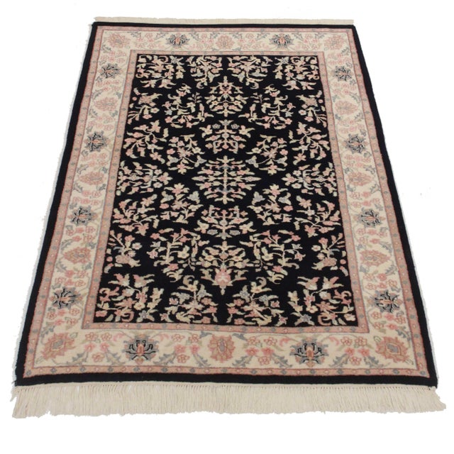 New hand knotted wool Persian design area rug. A gorgeous addition to any room!