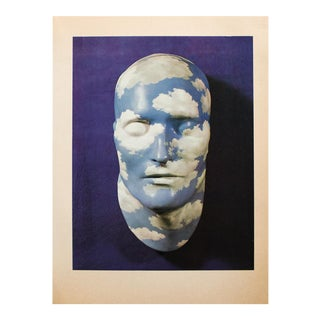 "1972 Rene Magritte, ""Painted Plaster Mask"" Original Photogravure For Sale"