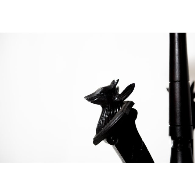 Eastlake Carved Deer Head Plant Stand For Sale - Image 4 of 4