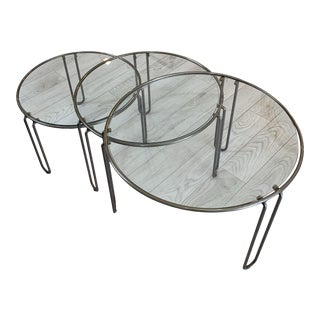 1960s Modernist Round Stacking Tables - 3 Pieces For Sale