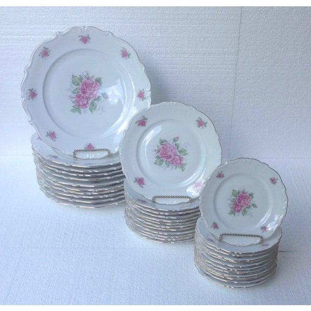 Bavarian Pink Rose China Set - Set of 84 For Sale - Image 5 of 8