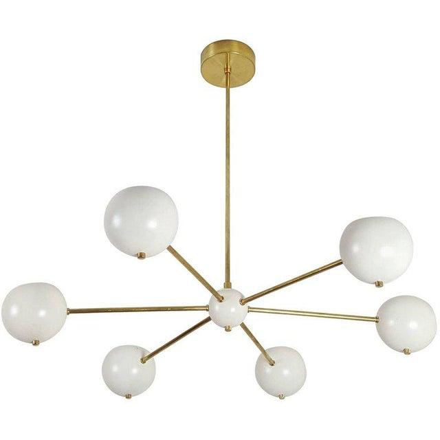 "Gold Custom ""Aster"" Pendant in Brass + Enamel by Blueprint Lighting For Sale - Image 8 of 8"