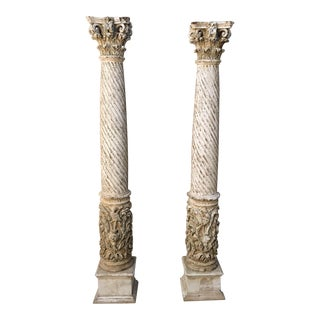 Early 19th Century Spanish Columns - a Pair For Sale