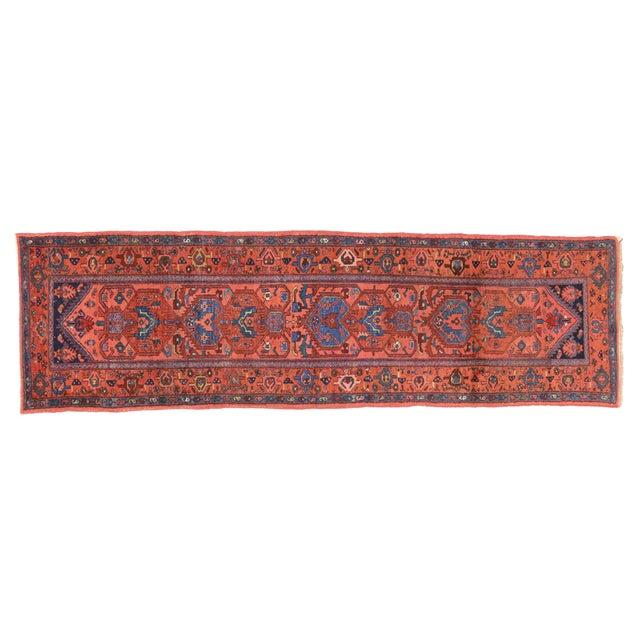 """Antique Persian Heriz Runner - 2'11"""" X 9'9"""" For Sale"""