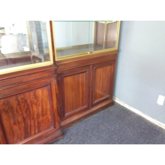 Belgian Antique Rosewood Shop Display Case With Miiror and Glass For Sale - Image 3 of 11