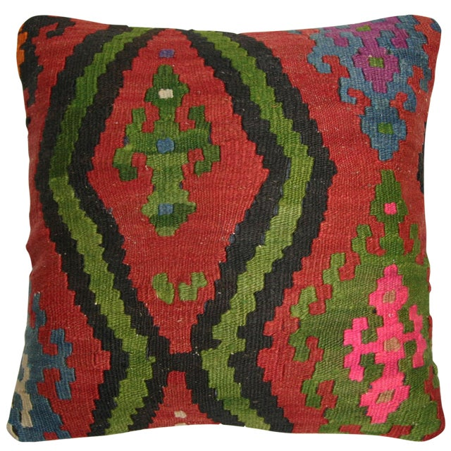 Rug and Relic Red Kilim Pillow - Image 1 of 2