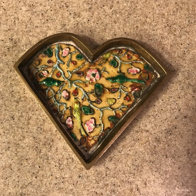 Asian Chinese Brass Cloisonné Trinket Dishes - a Pair For Sale - Image 3 of 10