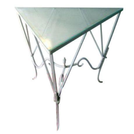 Vintage Mediterranean Wrought Iron and Glass Tall OutDoor Table Bar For Sale - Image 13 of 13