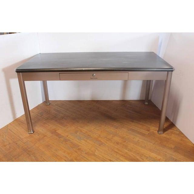 1950s Metal Desk By Shaw Walker