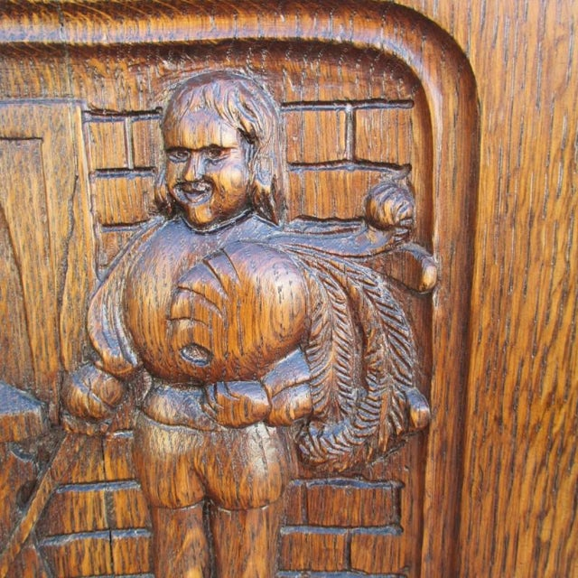 Wood French Antique Pub Armchair For Sale - Image 7 of 8