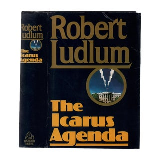 "1988 ""Signed First Edition, the Icarus Agenda"" Collectible Book For Sale"