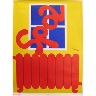 1978 Original Danish Energy Company Poster - Spar Pa Energen - Red Heater For Sale