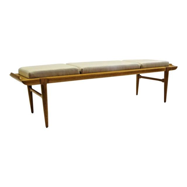 1950s Tomlinson's Sophisticates Line Mid-Century Modern Walnut Bench For Sale