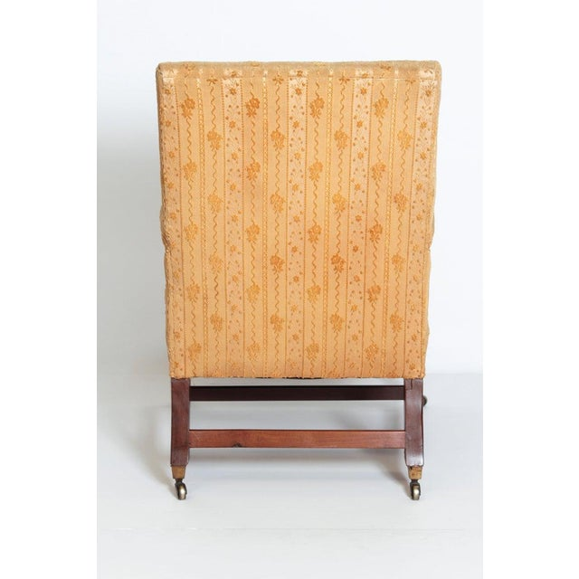"""18th Century 18th Century George III Upholstered """"Gainsborough"""" Library Chair For Sale - Image 5 of 12"""