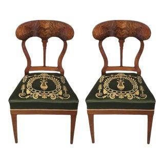 Germany 19th Century Biedermeier Chairs - a Pair