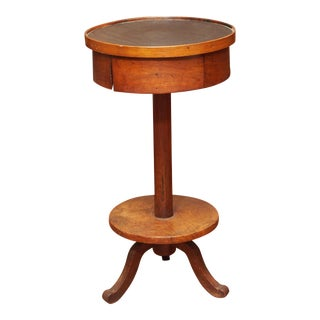 Early 19c. Provincial Drum Table For Sale