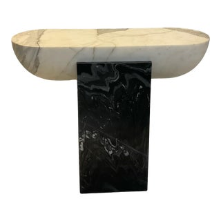 Pill Side Table - Marble For Sale