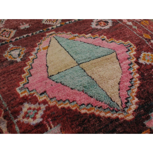 Mid 20th Century Moroccan Boujad Rug - 5′9″ × 11′8″ For Sale - Image 5 of 12
