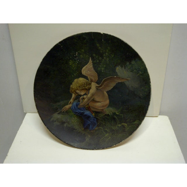 """This is a Vintage Display Plate that is titled """"Little Angel"""". The Plate is from the 1890's."""