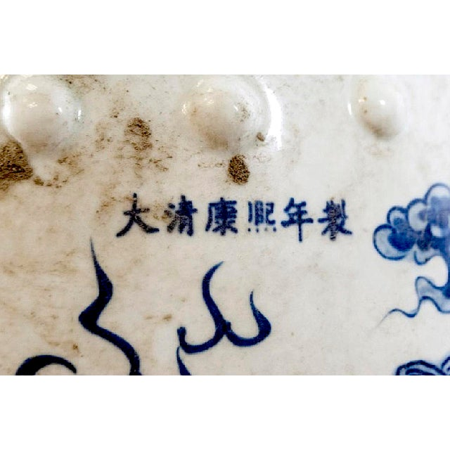 Mid 19th Century Qing Dynasty Blue & White Porcelain Garden Seat For Sale - Image 5 of 7