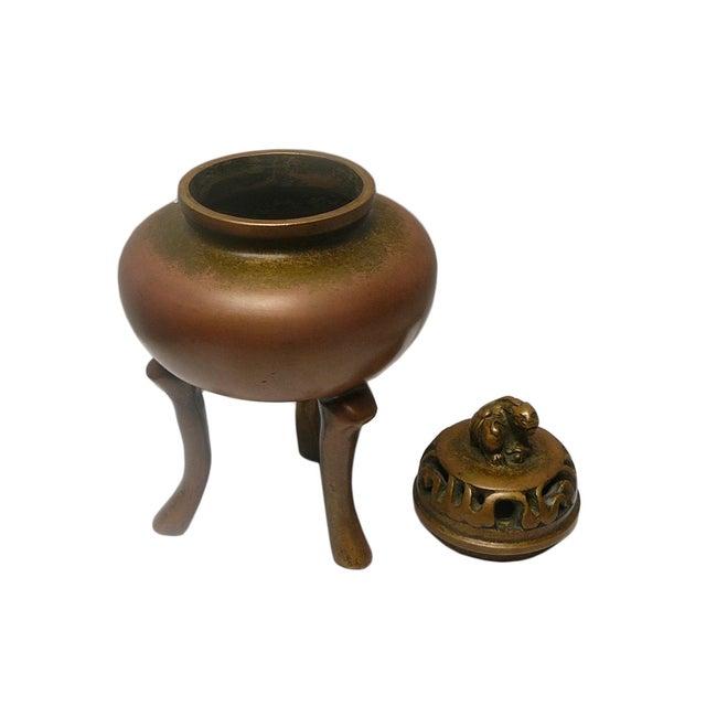 Chinese Handmade Bronze Incense Burn - Image 3 of 5