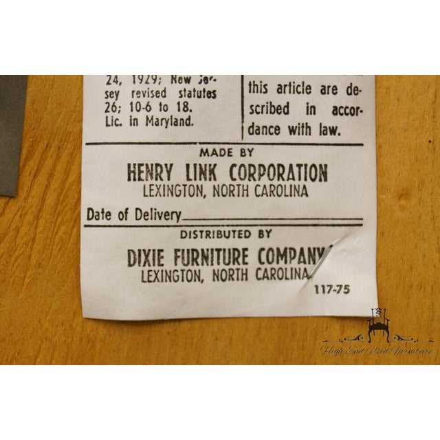 Henry Link Dixie Contemporary Style Cane Back Dining Arm Chairs - a Pair For Sale - Image 12 of 13