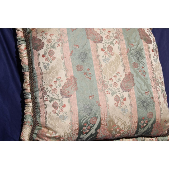 Italian 20th C. Two Difrernt Size of Possibly Italian Scalamandre Pillow For Sale - Image 3 of 10