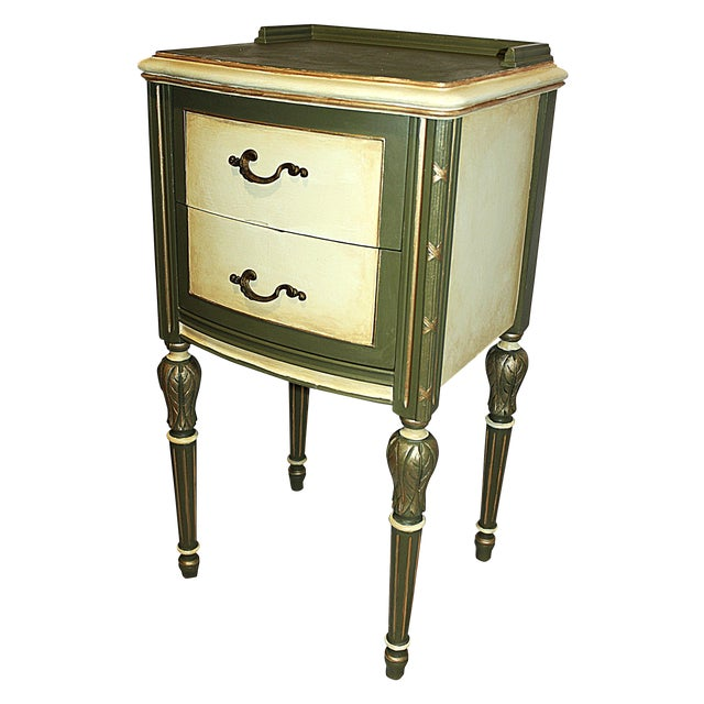 Vintage 1920s Mahogany Painted End Table - Image 1 of 10