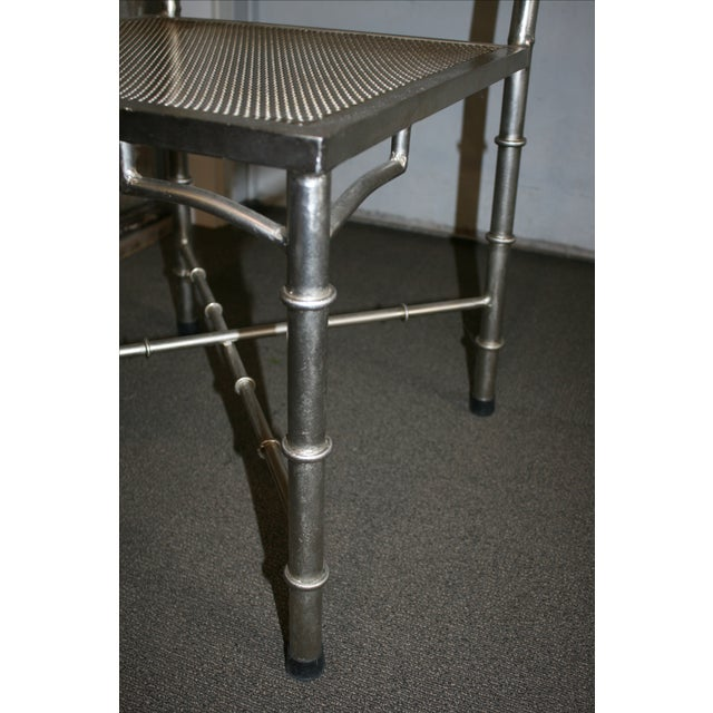 Nickel Bamboo Side Chair - Image 7 of 7