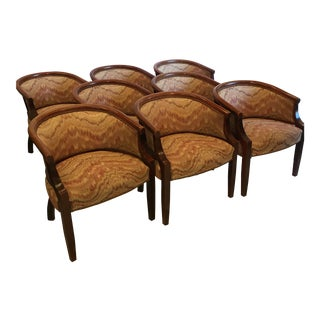 Barrel Style Dining Conference Chairs - Set of 8