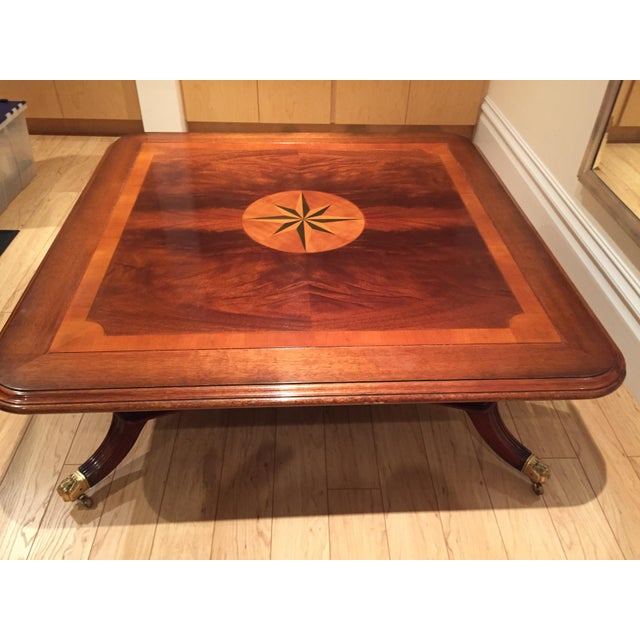 Square Mahogany Coffee Table - Image 10 of 11