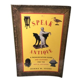 Speak Antique, a Pronunciation Guide and Glossary for the Arts & Antiques Book by Donna M. Stone For Sale