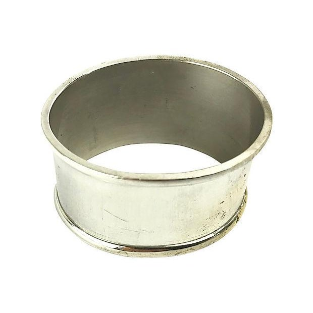 Traditional Silverplate Oval Napkin Rings - Set of 6 For Sale - Image 3 of 4